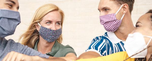 Masque en tissu glamour